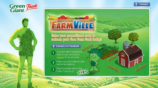 GreenGiant Farmville Promotion Sucks ALong with 7/11